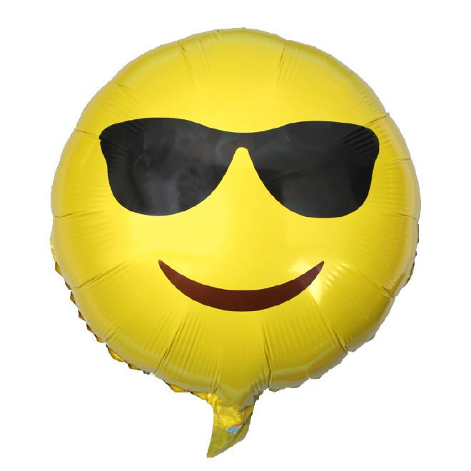 表情emoji新品铝膜美女调皮a表情表情气球铝飞吻比表情包心图片
