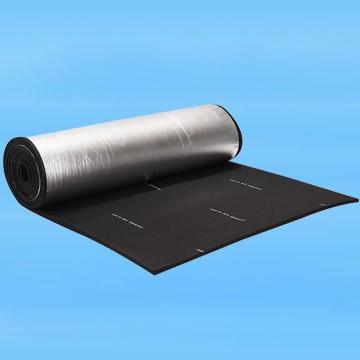 华美 单面加筋铝箔橡塑板 单面带背胶橡塑板 阻燃吸音橡塑海绵 铝箔贴面橡塑