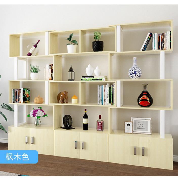 简易化妆品柜展示货架隔断卧室简易儿童书架组合落地陈列饰品架