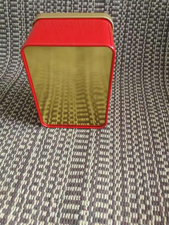 半斤装茶叶铁罐 250克装茶叶盒 信阳红铁盒 茶叶盒加工厂家示例图5