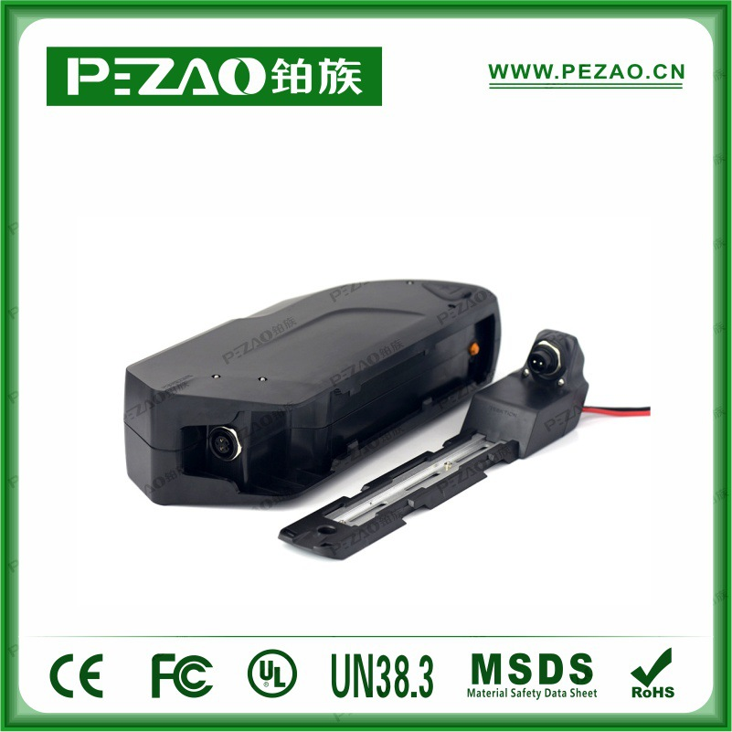 铂族电池 虎鲨款锂自行车电池/锂电车动力电池组/18650锂动力电池组 48V10-17.5Ah电池组示例图5