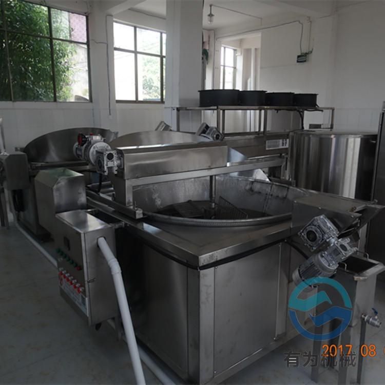 芝麻条油炸机 有为科技江米条油炸机厂家 自动搅拌式江米条油炸机器价格