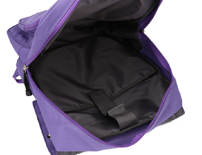 2016新款时尚韩版学院风带盖双肩学生书包 纯色休闲旅游包批发示例图24