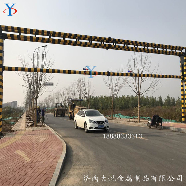 河南省智能 升降限高架 固定式旋转中开门 限高杆 升降限高架升降