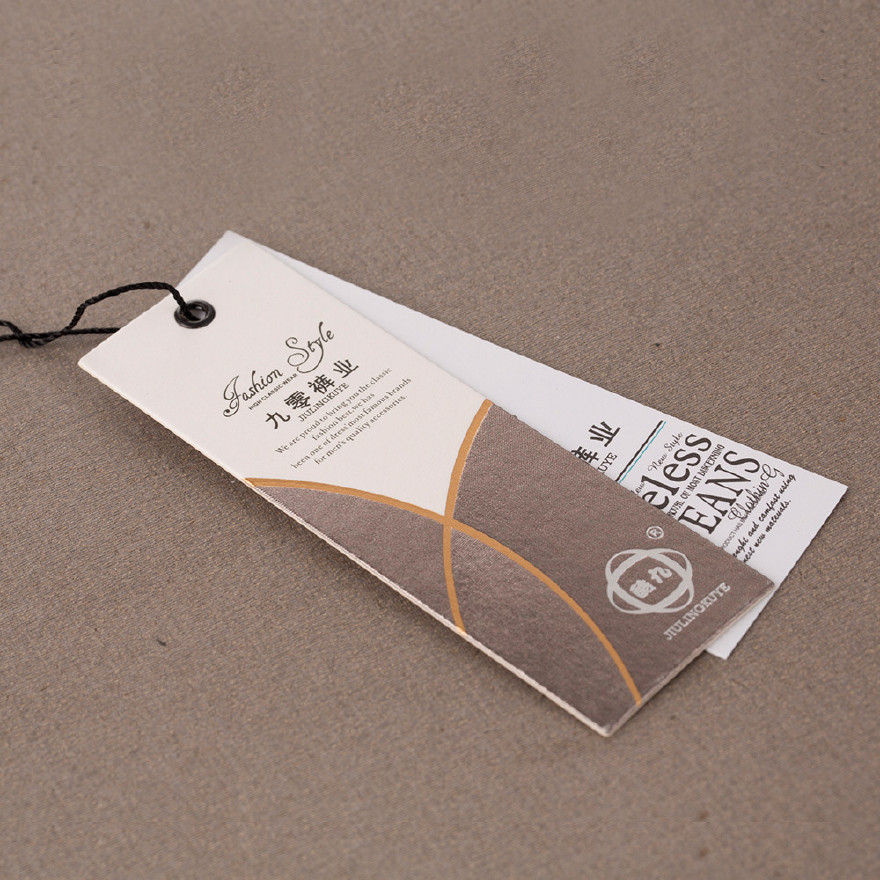 廠家定制燙金 褲子服裝掛牌標簽 吊牌印刷 紙卡吊卡定做圖片
