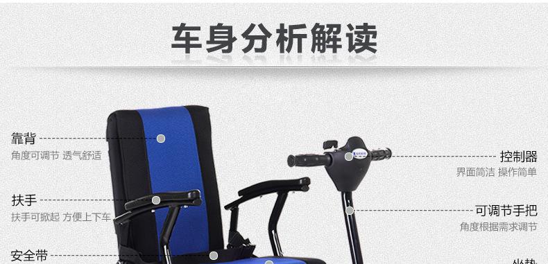 包邮上海互邦电动轮椅HBLD4-E轻便可折叠老年残疾人代步车家用示例图32
