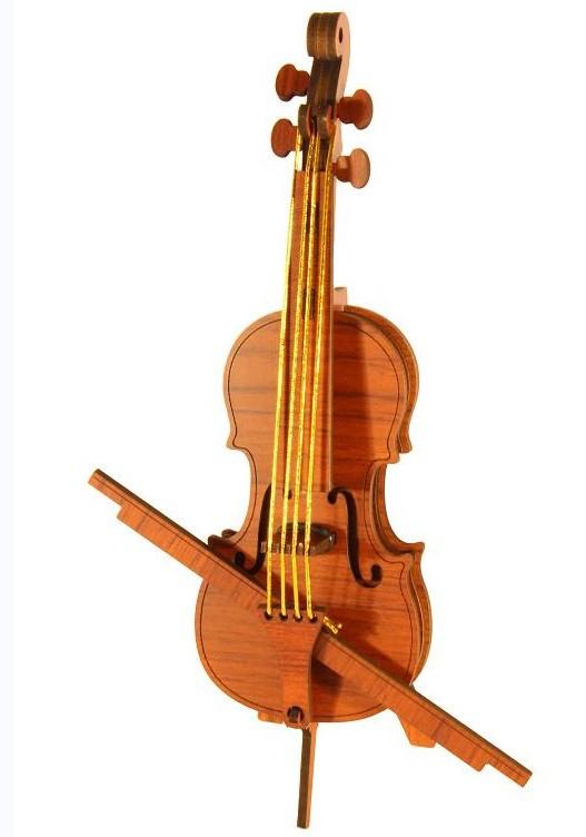 森呼吸 小提琴厂家批发木制工艺摆件创意礼品精致DIY益智玩具彩页