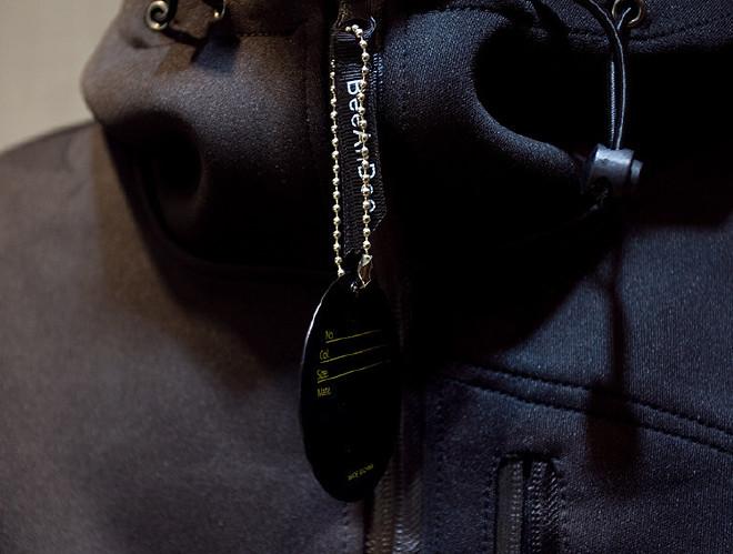 男式�l衣潮牌太空棉�l衣定制�B帽�n版修身�_衫日系男�b棒球服外套示例�D28