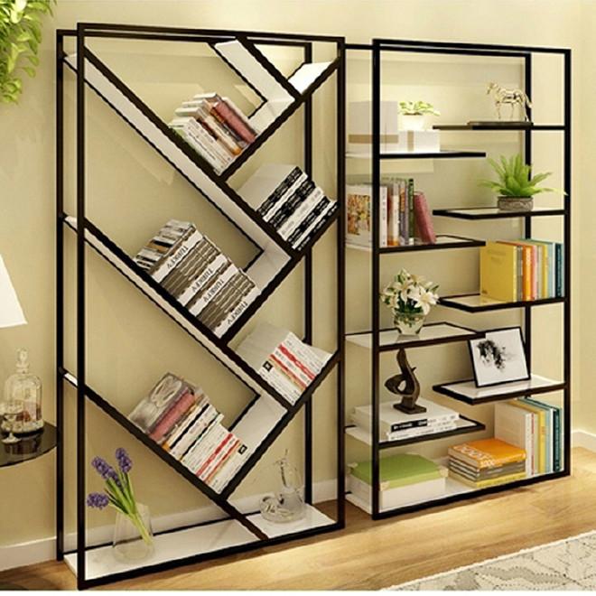 书房家具家用铁木落地简易书架 书柜创意铁艺实木书架置物架定制