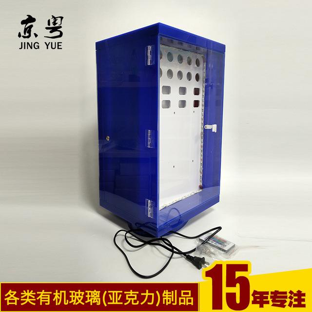 工廠訂做 旋轉發光手機充電器展示架 3C數碼產品小展柜加工定制 車充展架 數碼電子配件展架  數據線展架