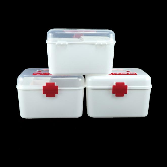 厂家直销塑料药箱 家用药箱 药品收纳箱手提箱药房赠品扶贫保健箱示例图2