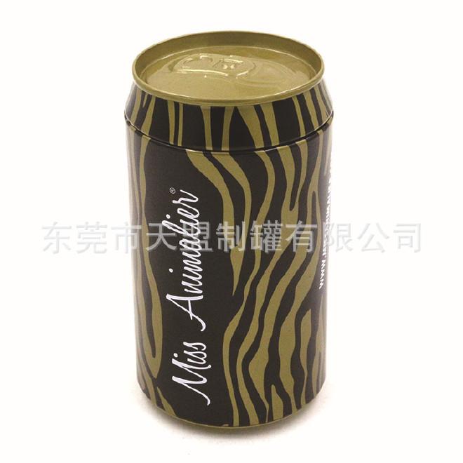 黑金色高档手表包装铁桶 礼品级可乐雪碧形状铁罐 定做手表易拉罐图片