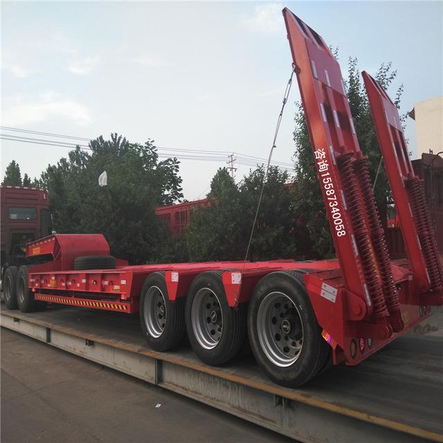 12.5米挖掘机低平板半挂车 自重以及价位
