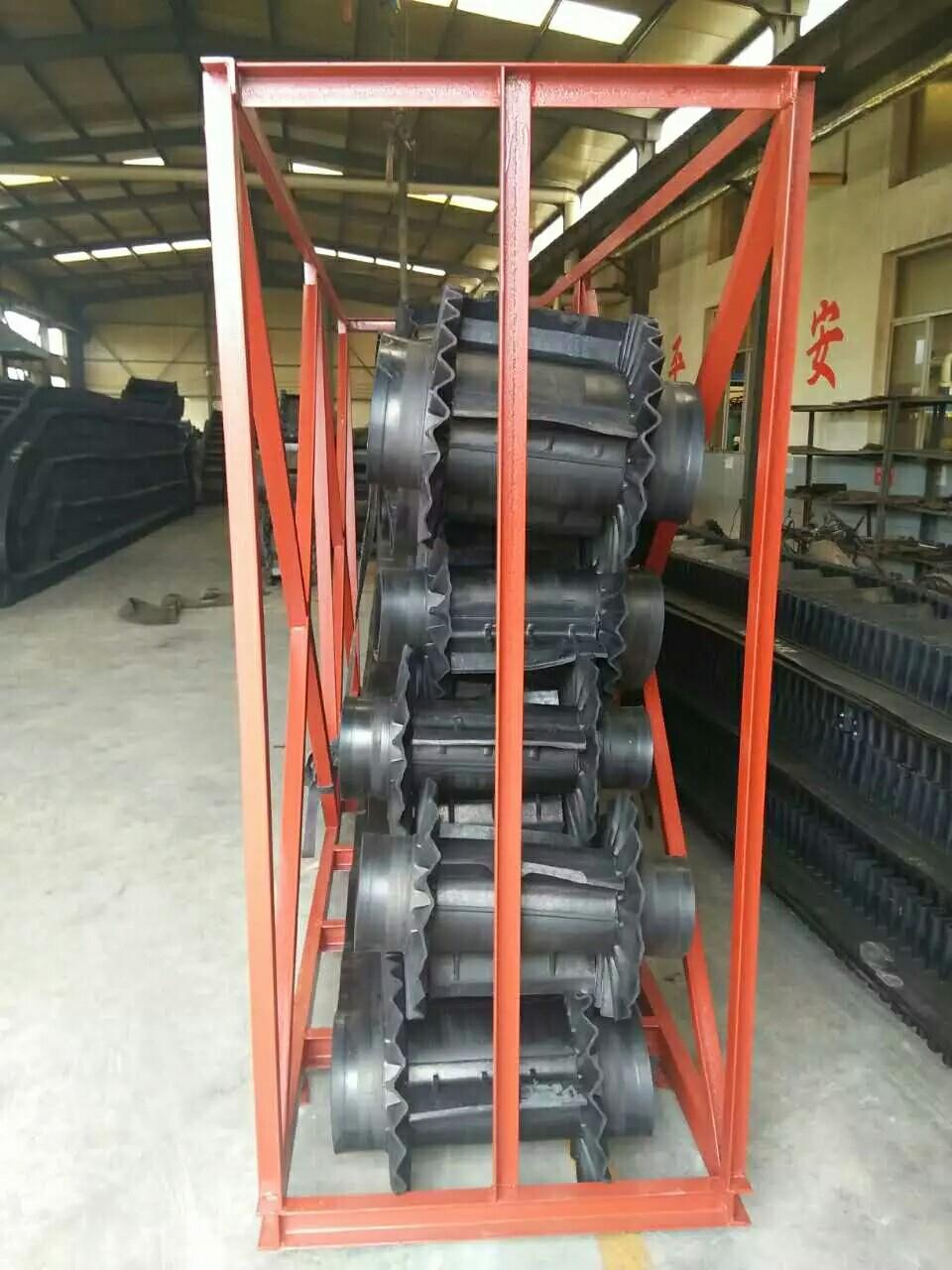 输送带厂家 耐灼烧型输送带 大倾角边高60-240PE 环形输送带 奥宇1001