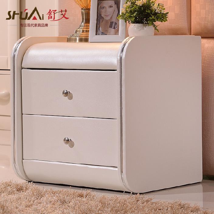 舒艾 床头柜现代卧室地柜现代简约床头柜时尚抽屉储物柜收纳矮柜