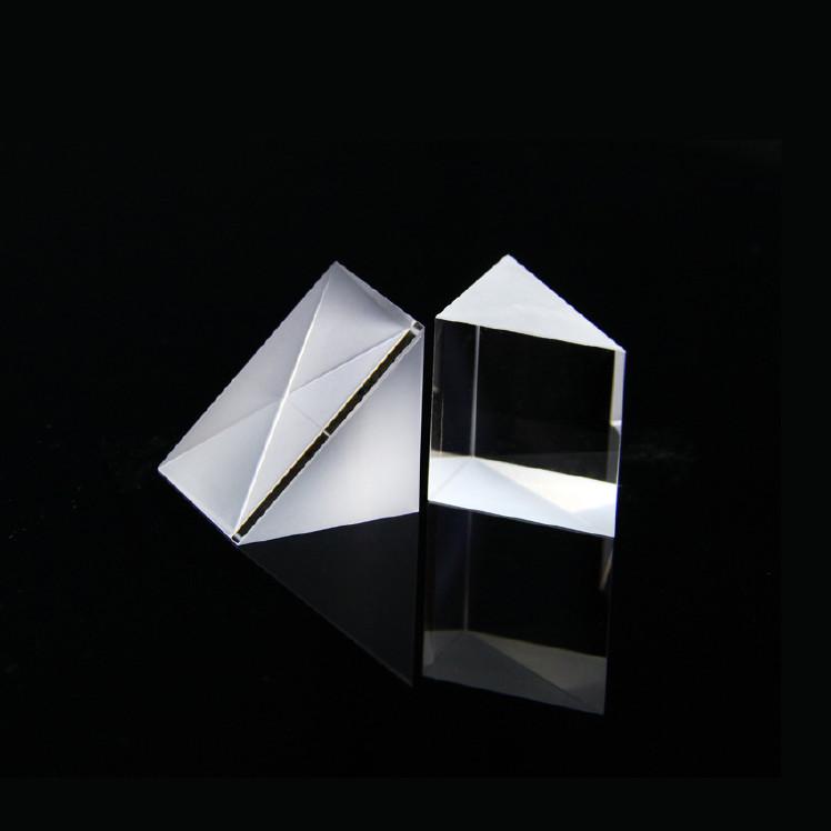 三棱镜光学玻璃儿童彩虹大号物理实验用分光直角棱镜三棱镜片批发图片
