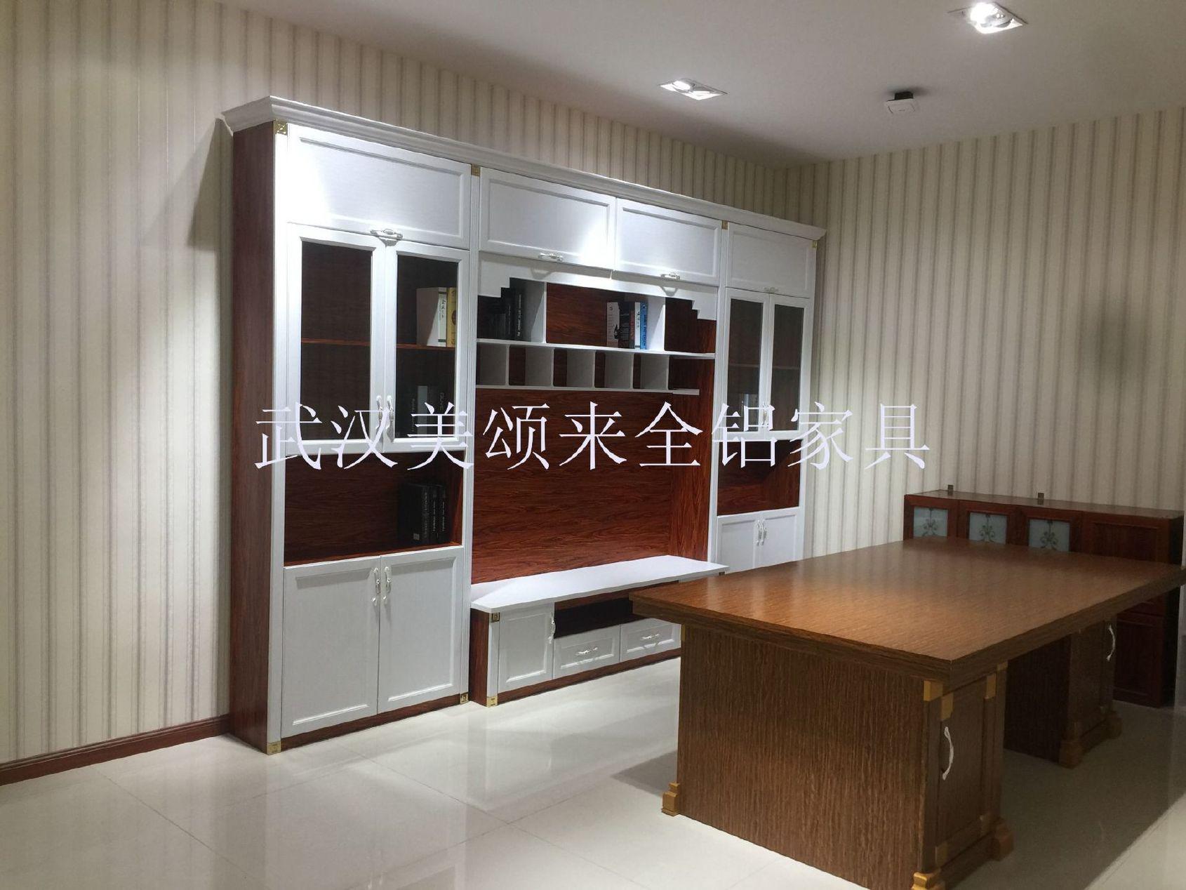 全铝书柜 欧式书柜现代简约书房家具欧式全铝合金书橱书架