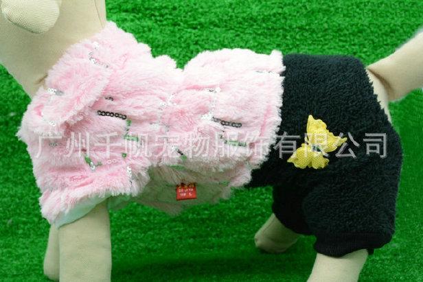 宠物冬装QD2824绒绒套装 精品宠物服装  狗狗衣服 外单宠物用品图片