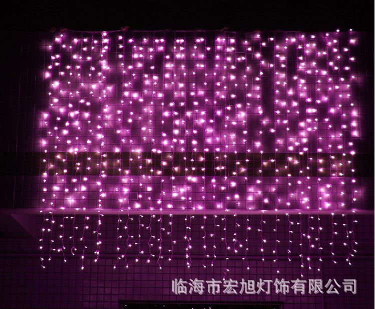 主播房间装饰 圣诞节日网红 LED窗帘灯3*3米304灯 冰条婚庆装饰灯示例图23