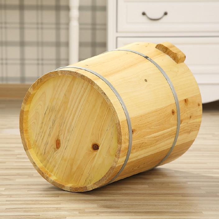 廠家批發30CM足療木桶洗腳木桶足浴盆木制洗腳盆圓邊香杉木定制代