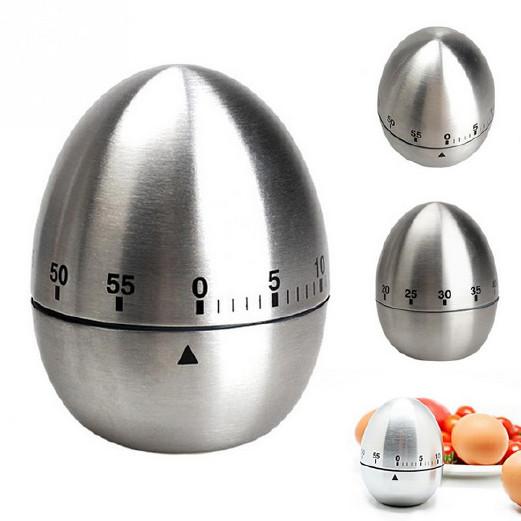 不銹鋼廚房定時器 雞蛋提醒器 60分鐘定時器 創意機械計時器鬧鐘圖片