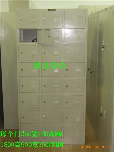 杭达钢制24门柜 玻璃二斗办公柜更衣柜