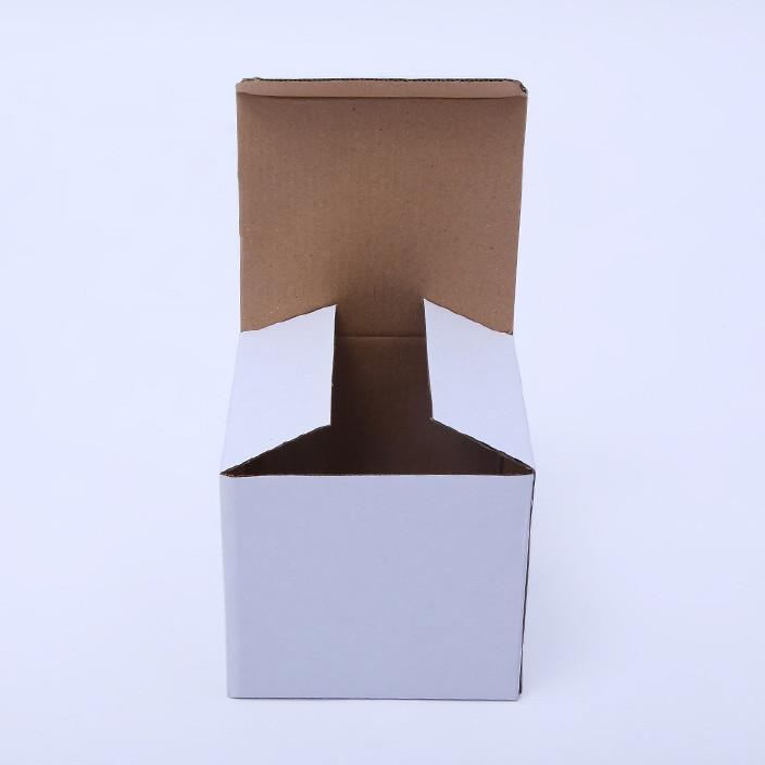 现货白色三层翻盖瓦楞盒饰品 礼品盒 笔包装外贸纸盒箱1188图片