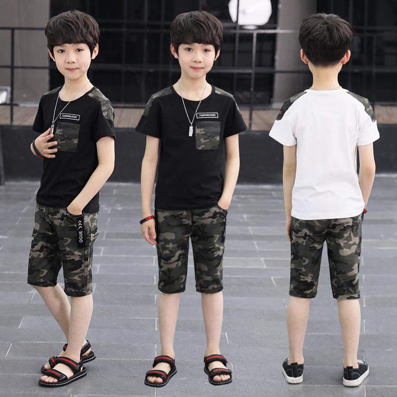 男童短袖套装