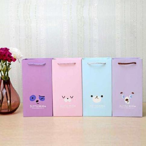 创意表情礼品袋情人节长方形礼物手提袋杯子收纳袋生日礼物礼品袋图片