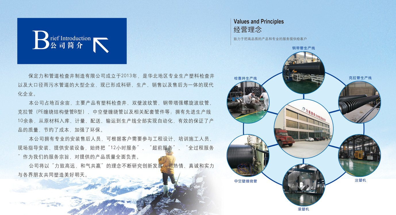 力和管道 专业生产塑料检查井 污水流槽井 源头厂家示例图15