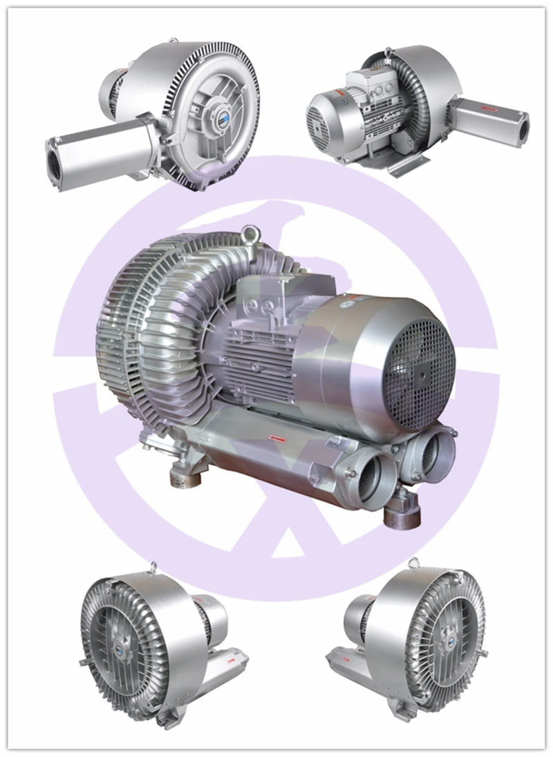 双叶轮高压鼓风机 上料机专用高压风机 物料输送专用漩涡气泵 双段高压风机 扦样机专用风机示例图5