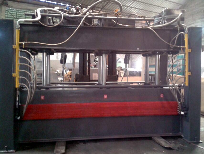亨力特HLT160T厂家直销4.5米空调用发泡板层压机5层实心加热板实心42加热板热压机