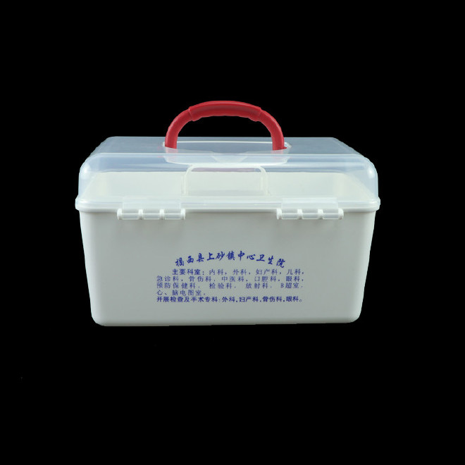 厂家直销塑料药箱 家用药箱 药品收纳箱手提箱药房赠品扶贫保健箱示例图34