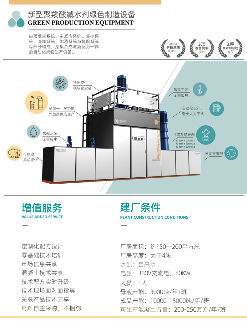 常温工艺 自动化聚羧酸减水剂设备 多功能外加剂生产设备 可移动减水剂设备示例图3