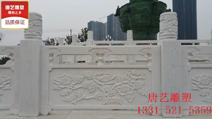 汉白玉汽车栏杆中式v汽车护栏园林景观石雕设栏板设计素材免费图片