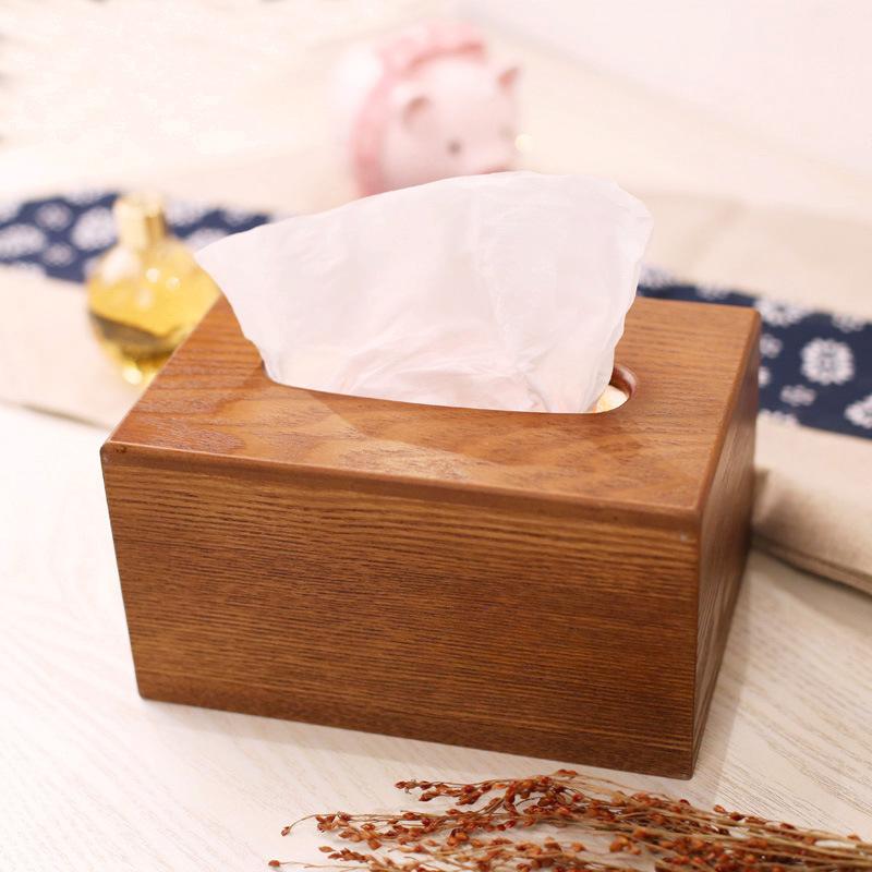 高档复古木质车载纸巾抽纸盒厕所卫生间抽取式长方形纸巾盒定制