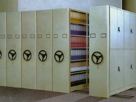 图书馆书架|标本密集柜|底图密集柜|油画密集柜|移动货架示例图5