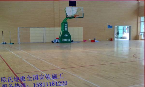 【广西省体育馆室内v简易木地板简易馆实木地板八门蓝球控制器门禁图片