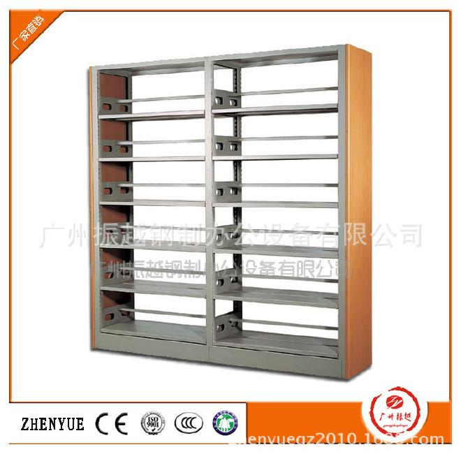 供应钢木双面书架 防火板书架 钢制书柜 书架 来图来样专业定做