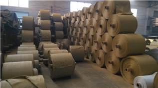 PP编织袋筒料生产厂家直销黄色半成品布卷 开边编织布可加工定做示例图12