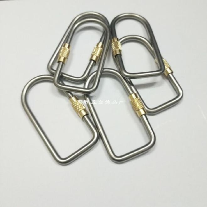 户外野营钛合金登山扣  钛合金带锁挂钩、钥匙挂钩户外用品