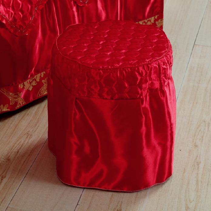 高档 美容床罩四件套七件套 大红色按摩床罩熏蒸床 通用款可订做示例图16