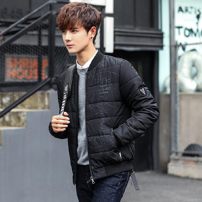 冬季棉衣男士棒球服保暖短款棉服韓版修身外套青年學生男裝棉襖潮圖片