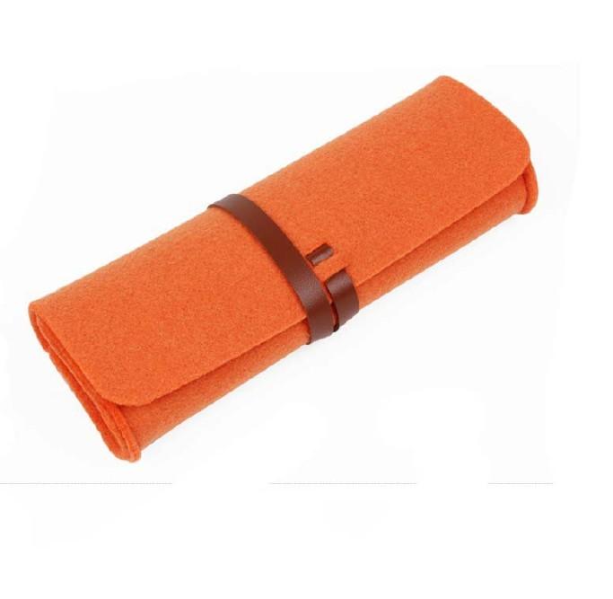 厂家直销毛毡笔袋时尚学生 大容量简约铅笔袋文具学生用品示例图10