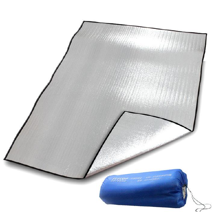 廠家批發雙面鋁防潮墊野營露營野餐墊子鋁箔可折疊戶外防潮墊