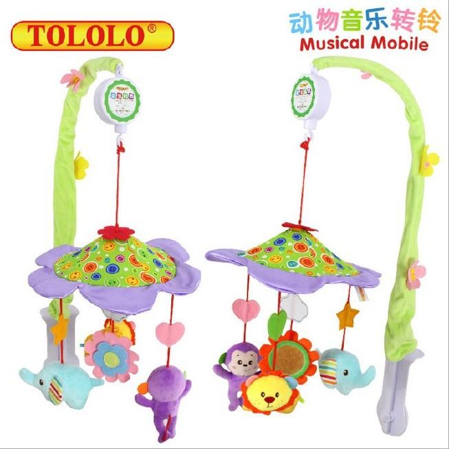 TOLOLO新生儿BB床铃 0-1岁 婴儿玩具动物音乐旋转床头铃 床铃