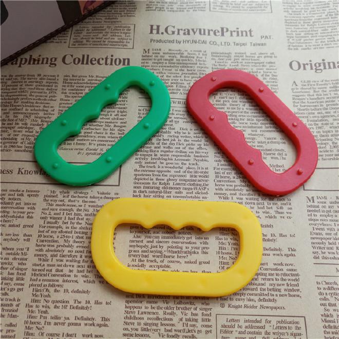 厂家直销椭圆形提手面粉袋塑胶手挽柄塑料大米袋手提配件批发图片