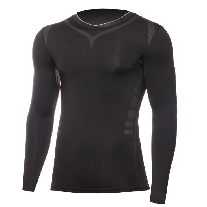 跑步压缩速干衣运动紧身衣男弹力跑步长袖透气篮球吸汗训练健身衣