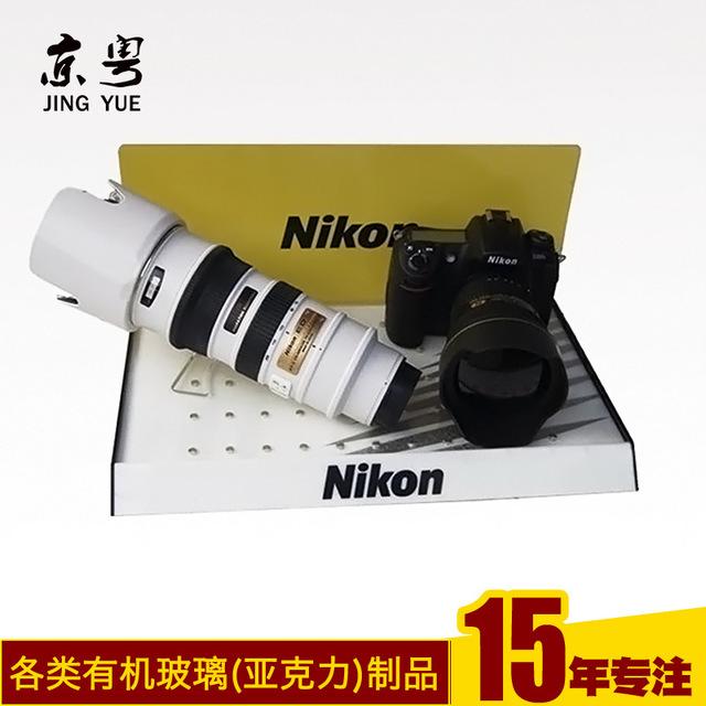 工厂订做 亚克力单反相机展示架 相机机镜头展架陈列架加工定制
