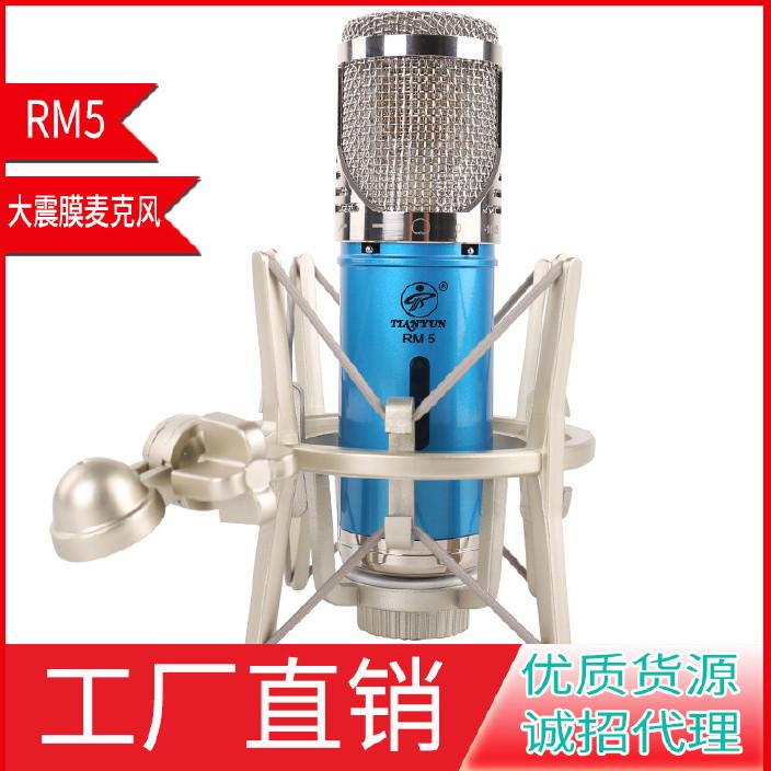 天韵rm5大振膜电容麦克风主播K歌电脑录音直播设备工厂直销图片